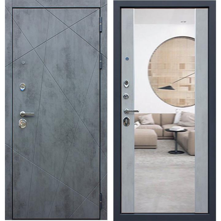 Входная металлическая дверь AСД Дуэт Б с зеркалом