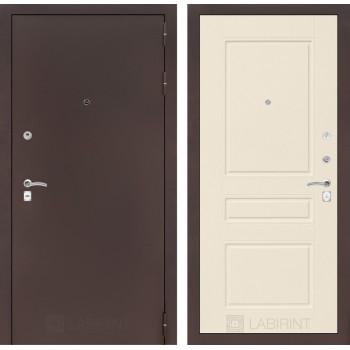 Дверь CLASSIC 03 медный антик – Софт крем