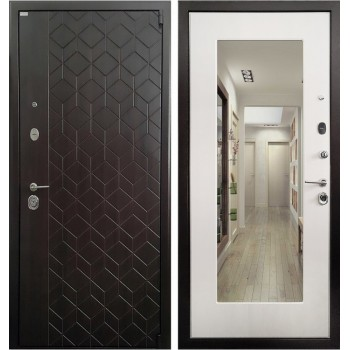 Дверь Ратибор Квант 3К с зеркалом (лиственница беж)
