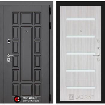 Дверь NEW YORK  01 – Сандал белый (белое стекло)