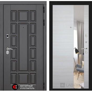 Дверь NEW YORK с Зеркалом – Акация светлая горизонтальная