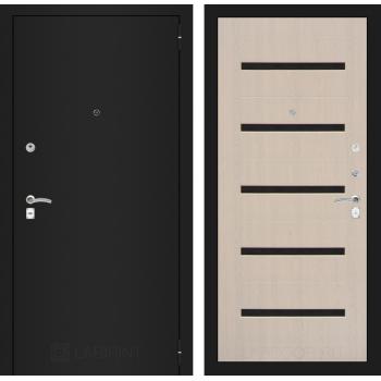 Дверь CLASSIC 01 черная шагрень – Дуб беленый