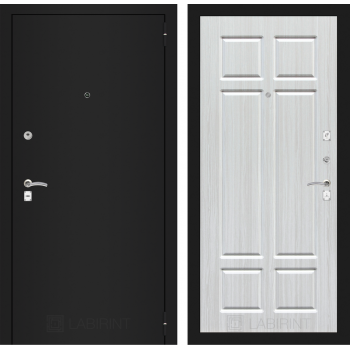 Дверь CLASSIC 08 черная шагрень – Кристалл вуд