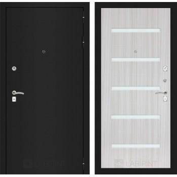 Дверь CLASSIC 01 черная шагрень – Белый сандал
