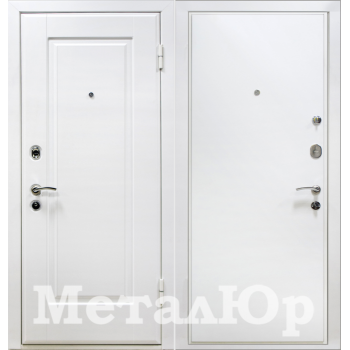 Дверь МеталЮр M10 (белый)
