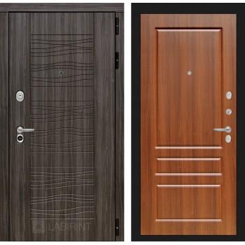 Дверь SCANDI 03 Дарк грей – Орех бренди