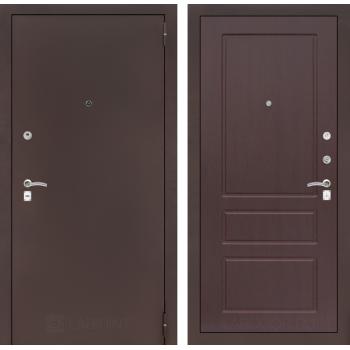 Дверь CLASSIC 03 медный антик – Орех премиум