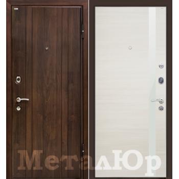 Дверь МеталЮр M6 (эшвайт кроскут-белый глянец)