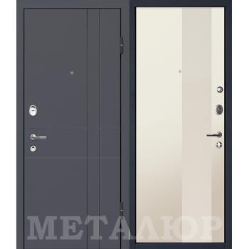 Дверь МеталЮр M16 (магнолия)