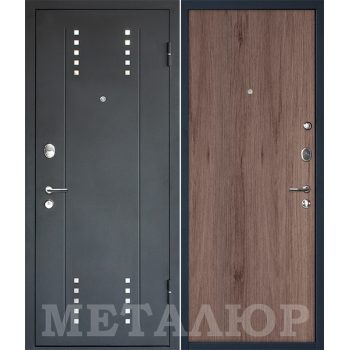 Дверь МеталЮр M26 (темный салинас)