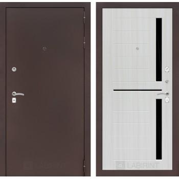 Дверь CLASSIC 02 медный антик – Белый сандал