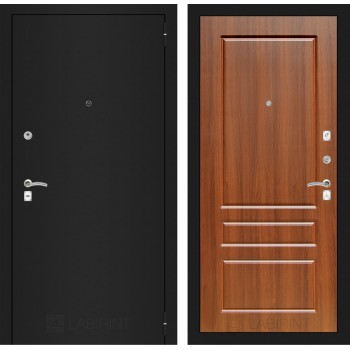Дверь CLASSIC 03 черная шагрень – Орех бренди
