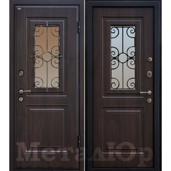 Дверь МеталЮр M32 (венге)
