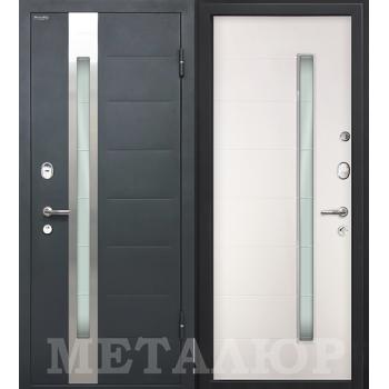 Дверь МеталЮр M36 (белый малибу)