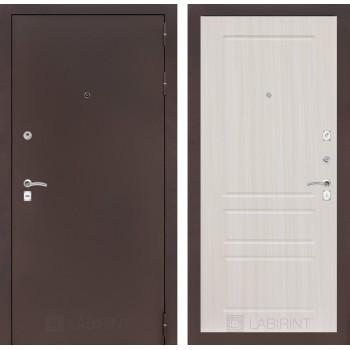 Дверь CLASSIC 03 медный антик – Белый сандал