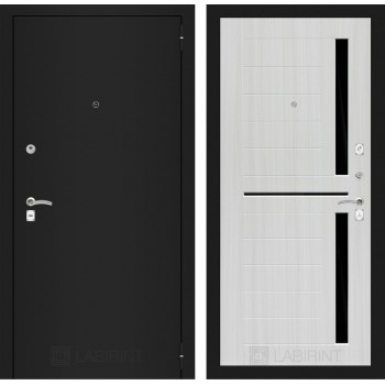 Дверь CLASSIC 02 черная шагрень – Белый сандал