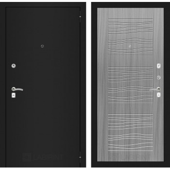Дверь CLASSIC 06 черная шагрень – Серый сандал