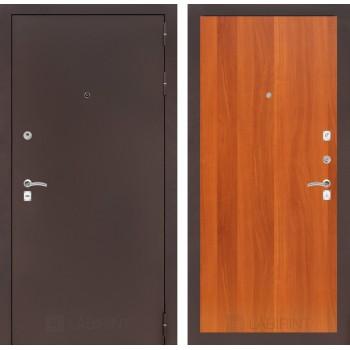 Дверь CLASSIC 05 медный антик – Орех итальянский