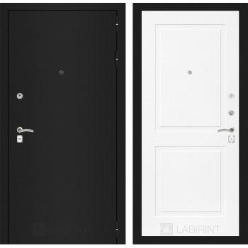 Дверь CLASSIC 11 черная шагрень – Софт белый