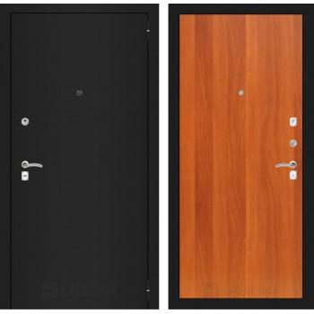 Дверь CLASSIC 05 черная шагрень – Орех итальянский