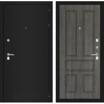 Дверь CLASSIC 10 черная шагрень – Дуб филадельфия графит