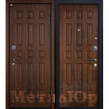 Дверь МеталЮр M3 (темный орех)