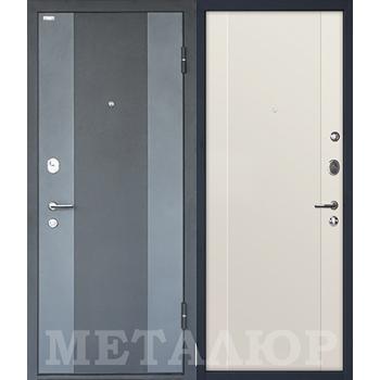 Дверь МеталЮр M27 (магнолия сатинат)