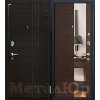 Дверь МеталЮр M15 (венге кроскут)