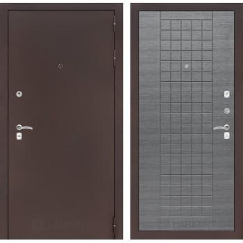 Дверь CLASSIC 09 медный антик – Лен сильвер грей