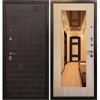 Дверь Ратибор Силуэт 3К с зеркалом (эко дуб)
