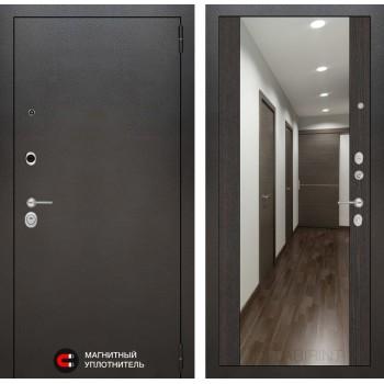 Дверь SILVER с широким зеркалом – Венге