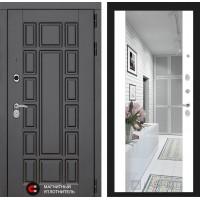 Дверь NEW YORK с широким зеркалом – Белый Софт