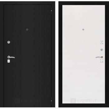 Дверь CLASSIC 07 черная шагрень – Горизонтальный перламутр