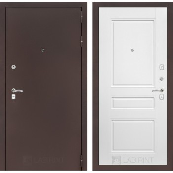 Дверь CLASSIC 03 медный антик – Софт белый