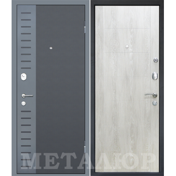 Дверь МеталЮр M28 (Дуб шале снежный)