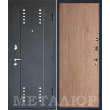 Дверь МеталЮр M26 (светлый салинас)