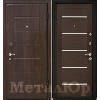 Дверь МеталЮр M7 (венге мелинга)