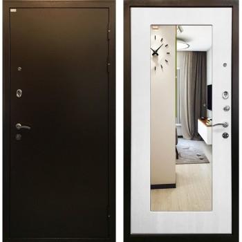Дверь Ратибор Милан с зеркалом (белый ясень)