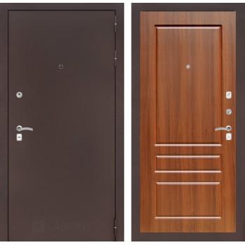 Дверь CLASSIC 03 медный антик – Орех бренди