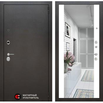 Дверь SILVER с Зеркалом – Белый Софт