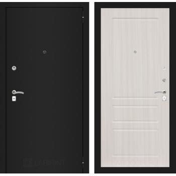 Дверь CLASSIC 03 черная шагрень – Белый сандал