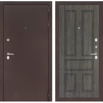 Дверь CLASSIC 10 медный антик – Дуб филадельфия графит