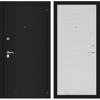 Дверь CLASSIC 06 черная шагрень – Белое дерево