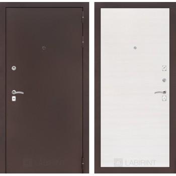 Дверь CLASSIC 07 медный антик – Горизонтальный перламутр