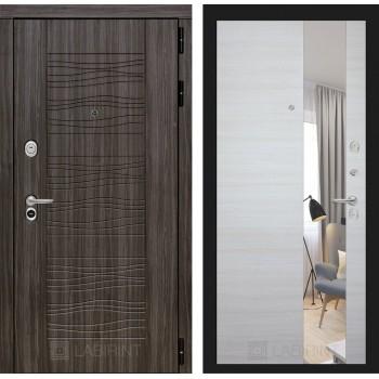 Дверь SCANDI Дарк грей с зеркалом –  Акация горизонтальная светлая