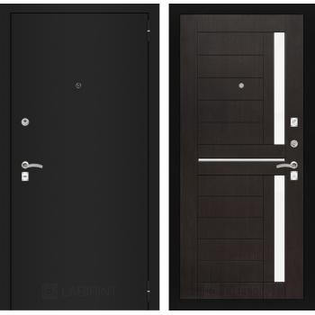 Дверь CLASSIC 02 черная шагрень – Венге