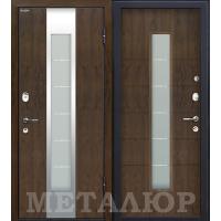 Дверь МеталЮр M34 (Темный орех)