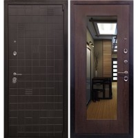 Дверь Ратибор Силуэт 3К с зеркалом (венге капучино)
