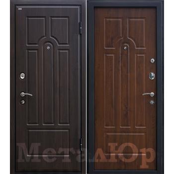 Дверь МеталЮр M5 (темный орех)