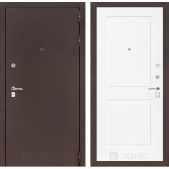 Дверь CLASSIC 11 медный антик – Софт белый